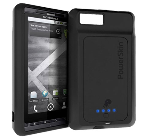 PowerSkin Battery Case for the Motorola Droid X and X2