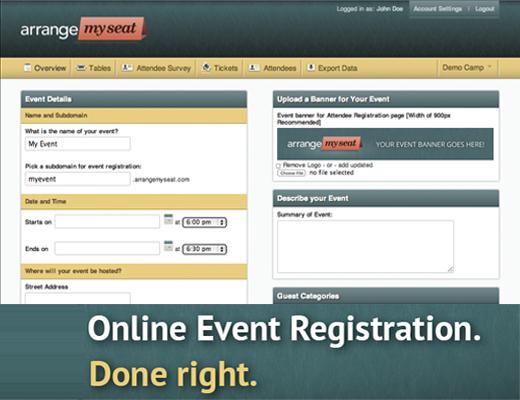 ArrangeMySeat.com – Perfect Seating Plan Software