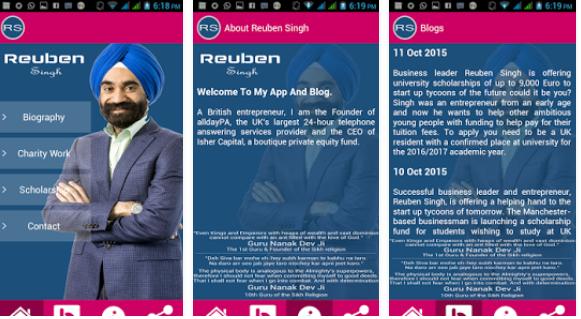 Reuben Singh – App Review