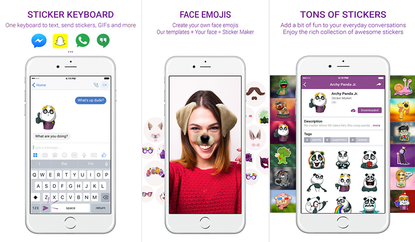 STICKER MARKET: EMOJI KEYBOARD- STOP GETTING BORED NOW!
