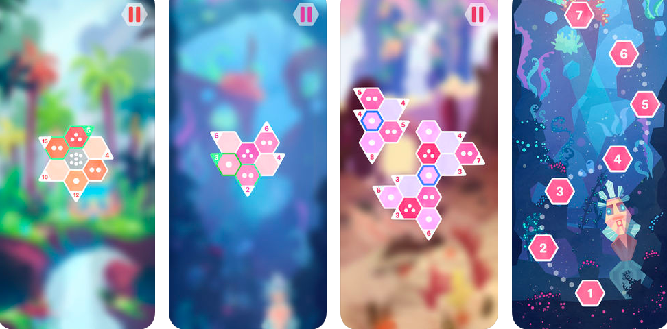 Hexologic, sudoku-style puzzle game available on Android, App Store, Steam, Nintendo Switch