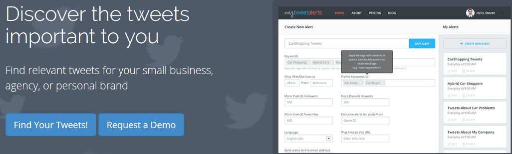 Discovering The Tweets Relevant To You Becomes Easier With MyTweetAlerts
