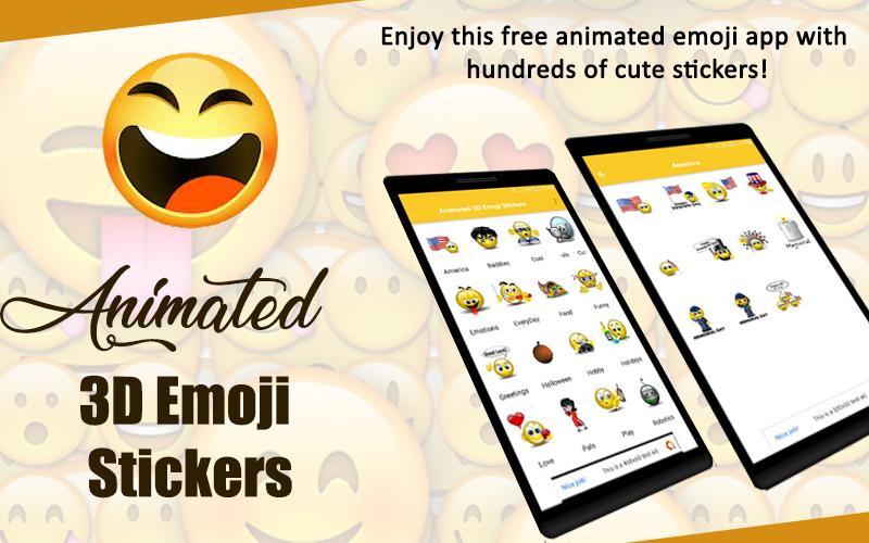 Animated 3D Emoji Stickers