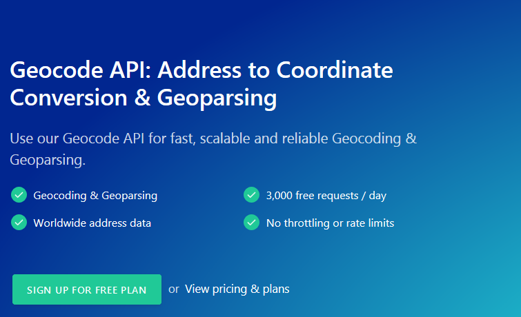 GEOCODE API- ADDRESS TO CONVERSION AND GEOPARSING!
