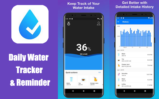 Daily Water Tracker & Reminder | H2O Hydration