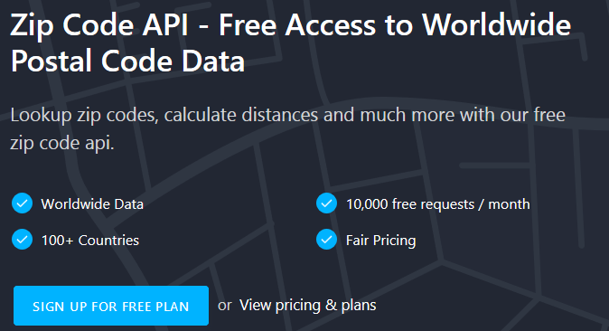 ZIP CODE API- THE SIMPLEST WAY TO FETCH ZIP CODES ONLINE!