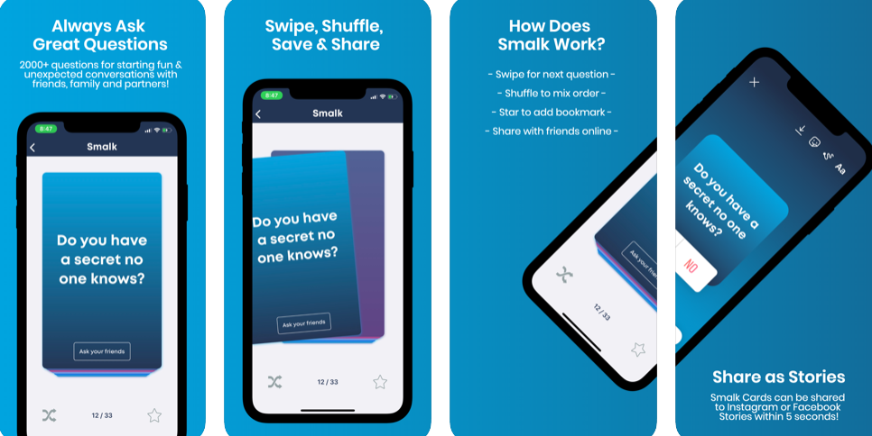 SMALK-THE APP THAT INSPIRES YOU!