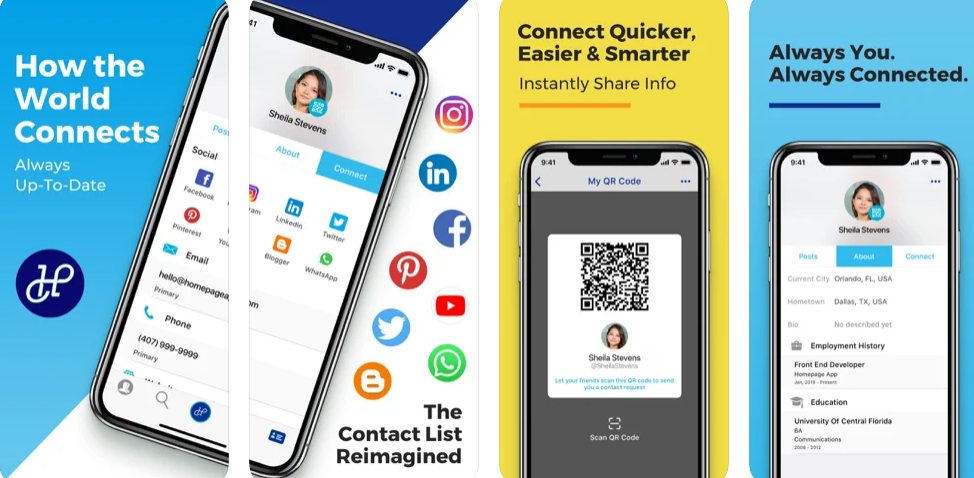 The real-time contact list, communication & closed-circle social media app
