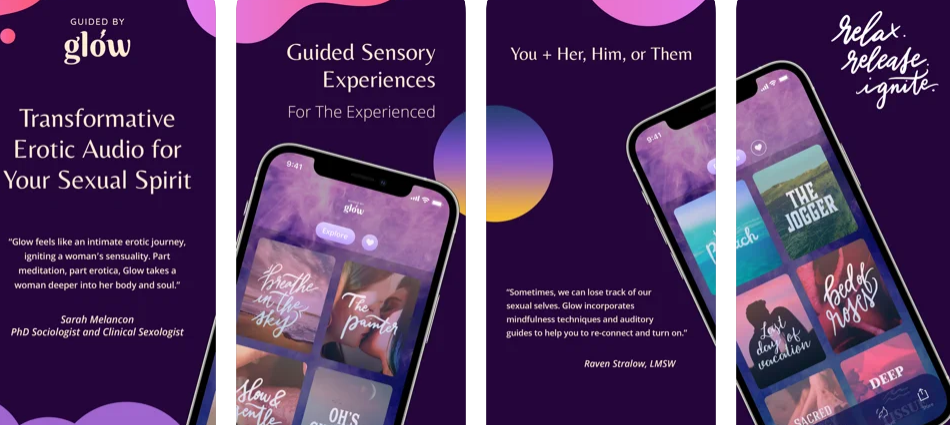 Erotic guided meditations for women's sexual wellness